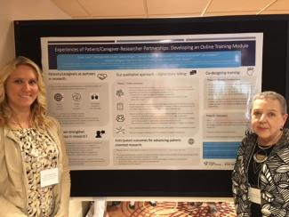 Dr. Michelle Marcinow and Patricia Pottie at 2018 Trillium Primary Health Care Research Day